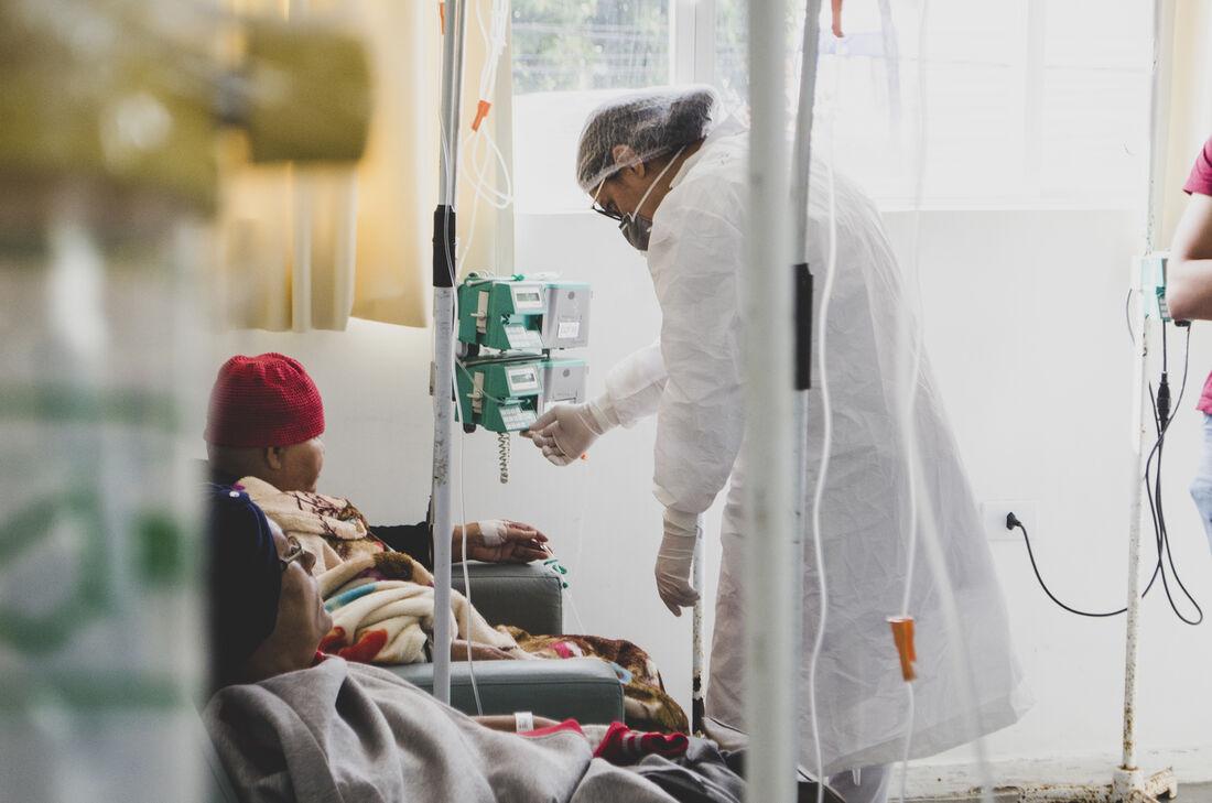 Paciente em tratamento de câncer