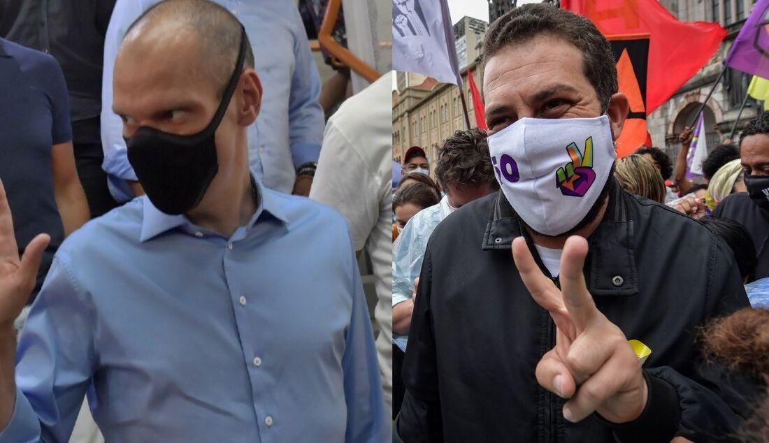 Bruno Covas (PSDB) e Guilherme Boulos (PSOL)