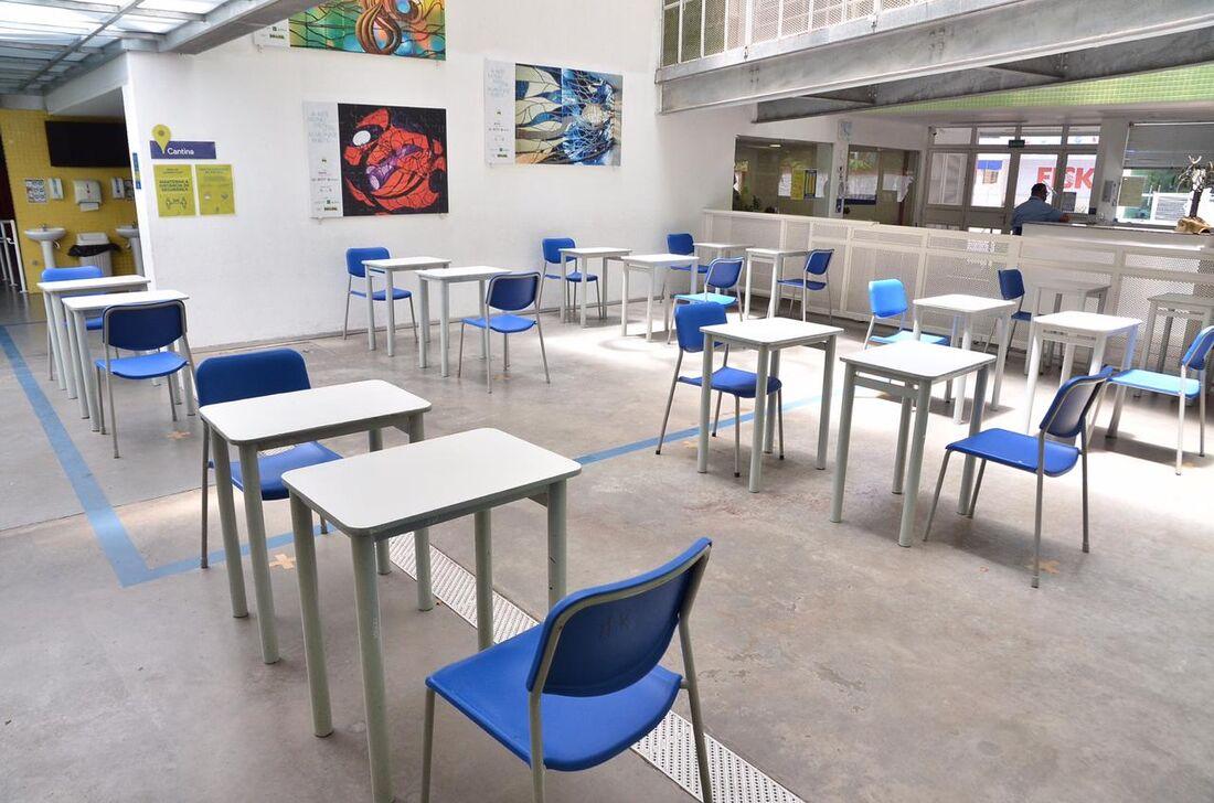 Sala de aula em distanciamento social