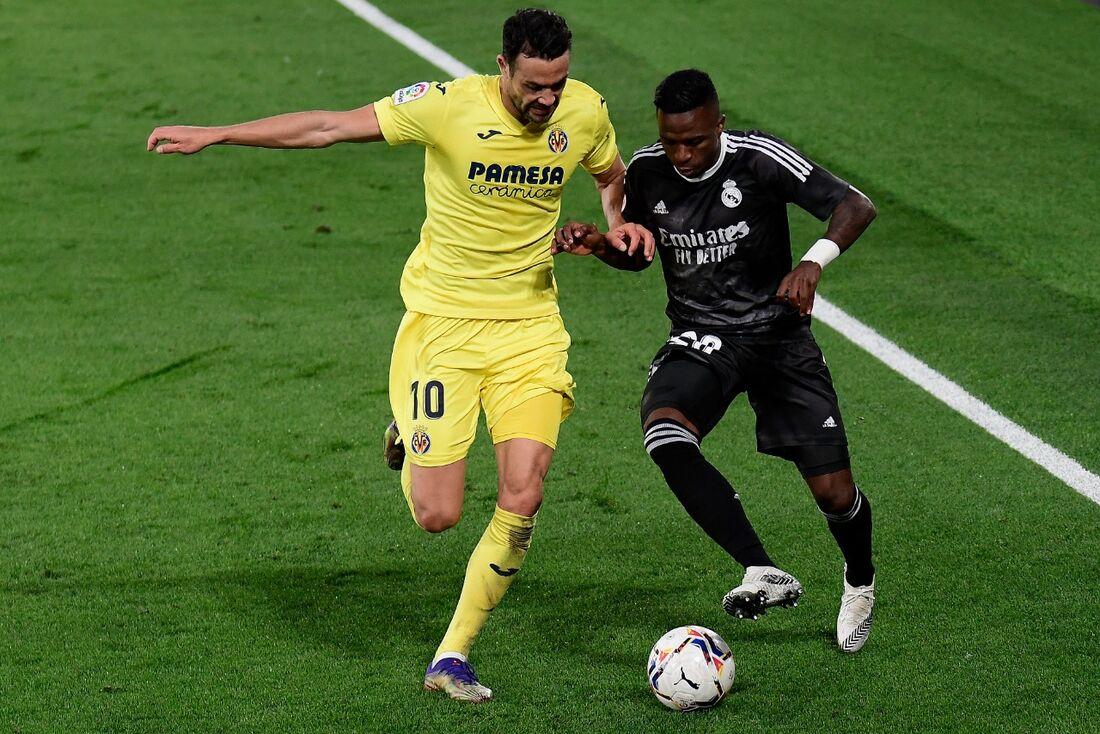Jogo entre Real Madrid e Villareal