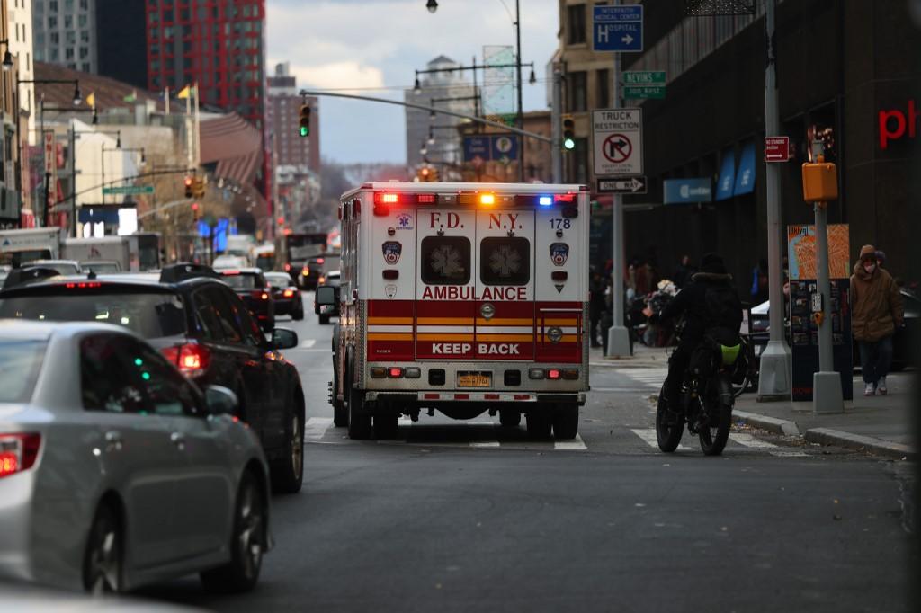Ambulância em Nova Iorque, nos EUA