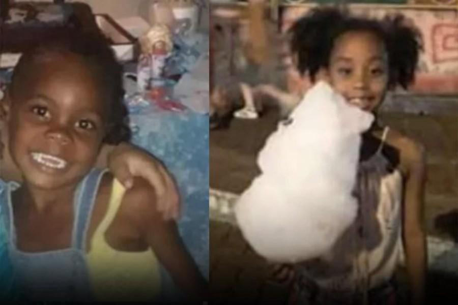 Emilly Victoria, 4, e Rebeca Beatriz Rodrigues dos Santos, 7