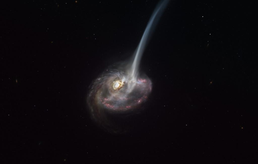 Esta galáxia de formato elíptico