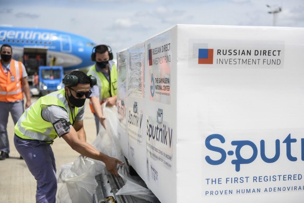 Doses da Sputnik V, da Rússia