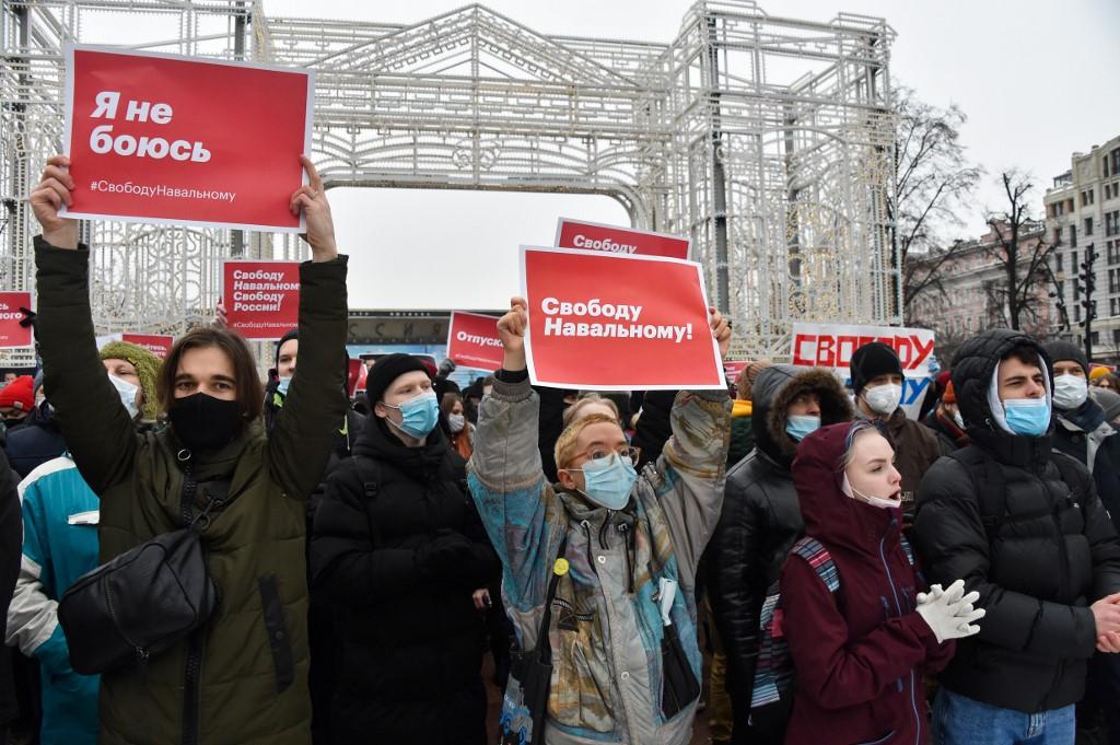 Protestos contra o presidente Vladimir Putin