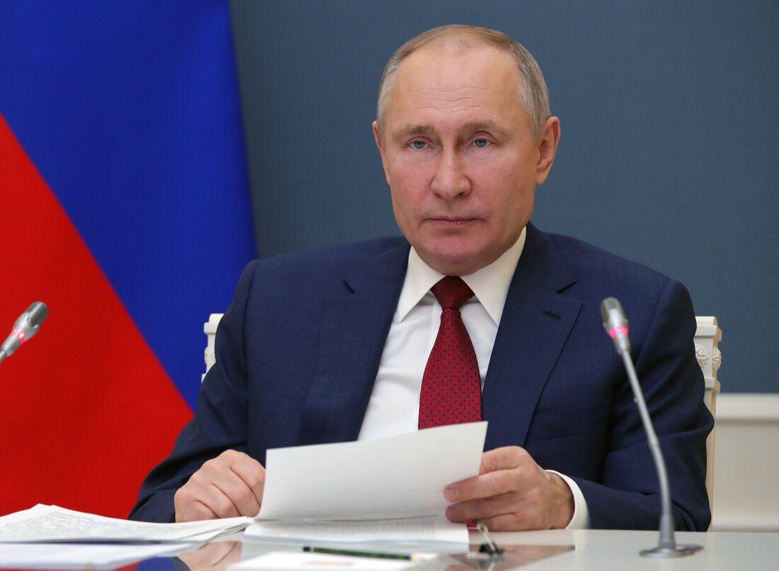 Putin em evento virtual do Fórum Econômico Mundial de Davos