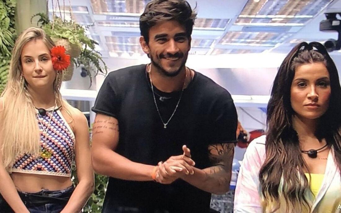Gabi (à esq.), Guilherme e Bianca Andrade no BBB20; nova temporada terá recurso de paquera