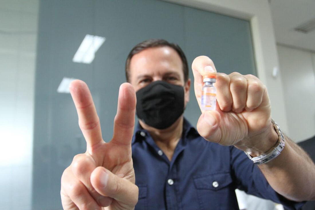 Governador João Doria acompanha o início da imunização em Ribeirão Preto