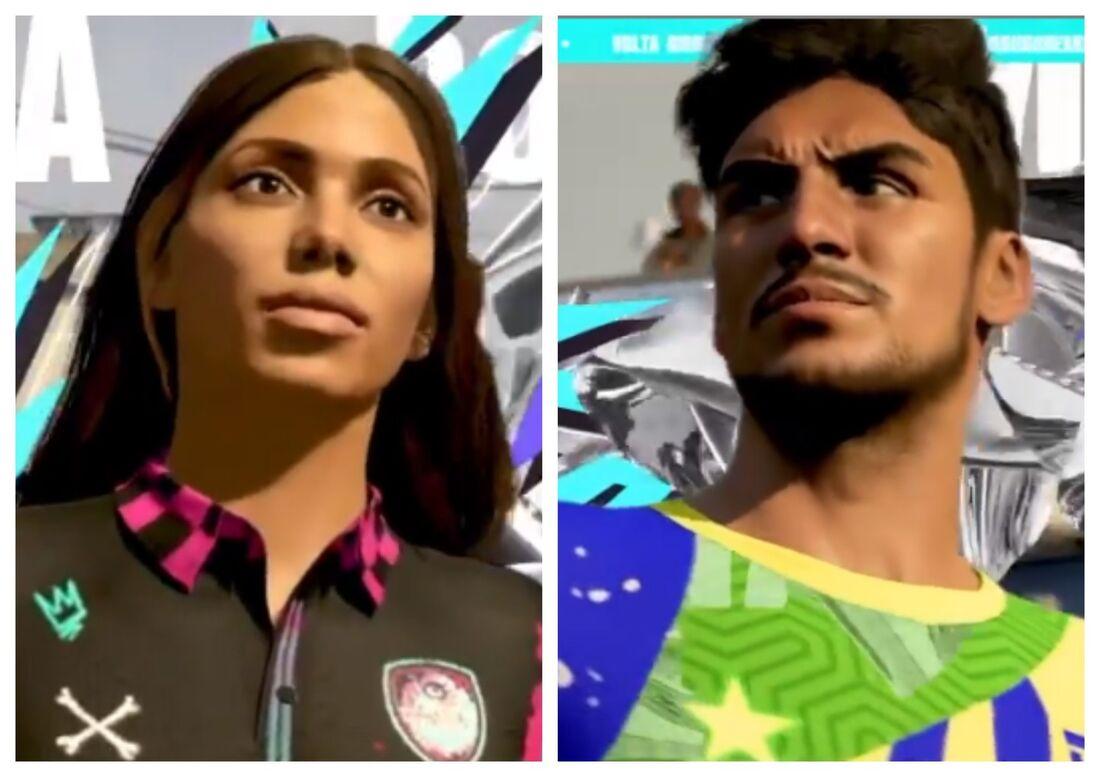 Anitta e Gabriel Medina no FIFA 21