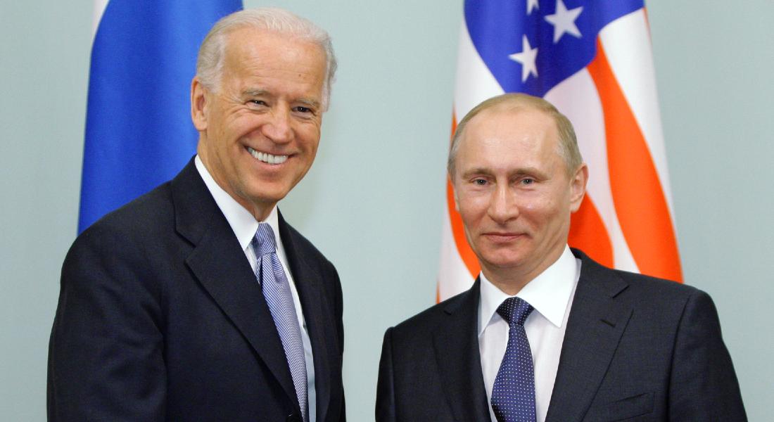 Presidente russo Vladmir Putin e presidente norte-americano Joe Biden
