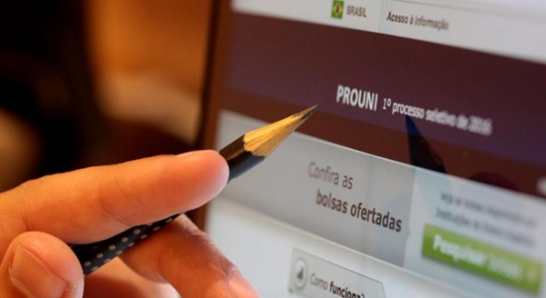 Site do ProUni, programa que seleciona estudantes para bolsas de estudos em instituições privadas de ensino superior