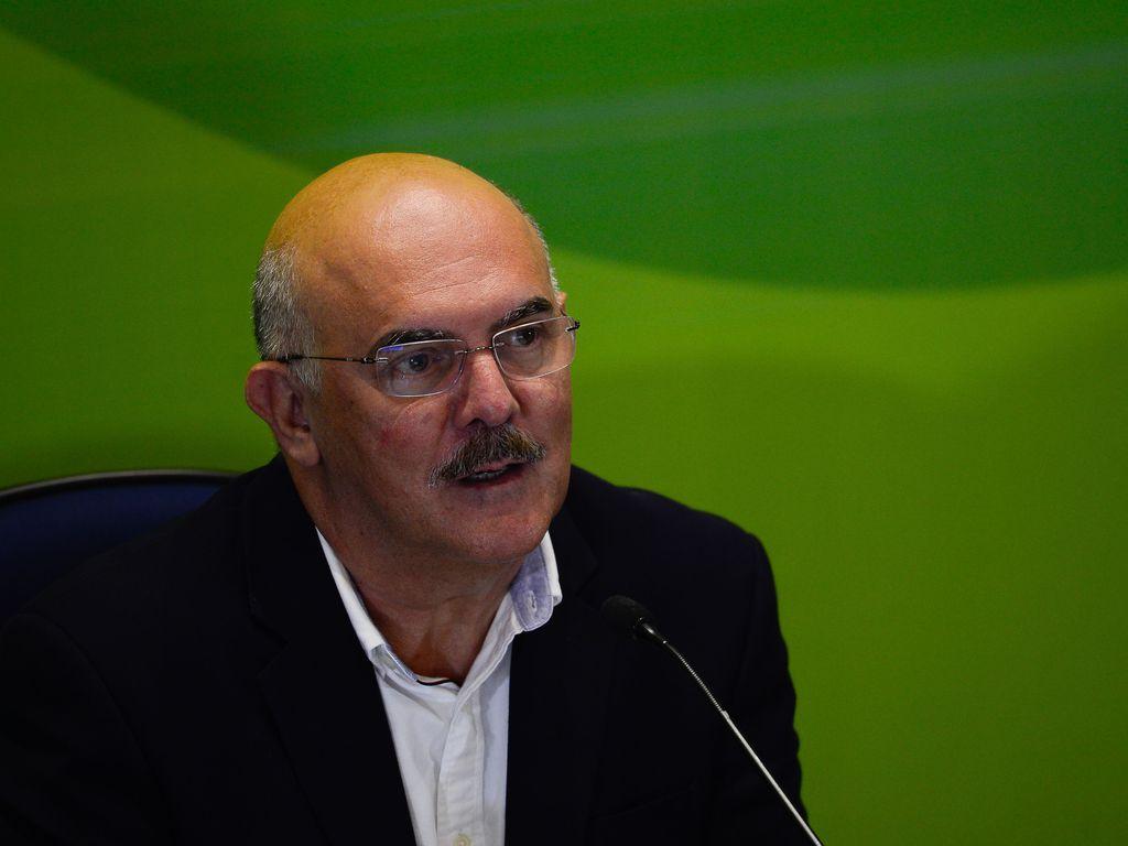 O ministro da Educação, Milton Ribeiro, participa da entrevista coletiva sobre o primeiro dia de provas do Enem