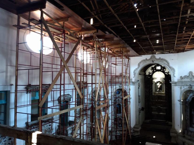 A igreja receberá investimento de aproximadamente R$ 971 mil para restaurar a cobertura da edificação