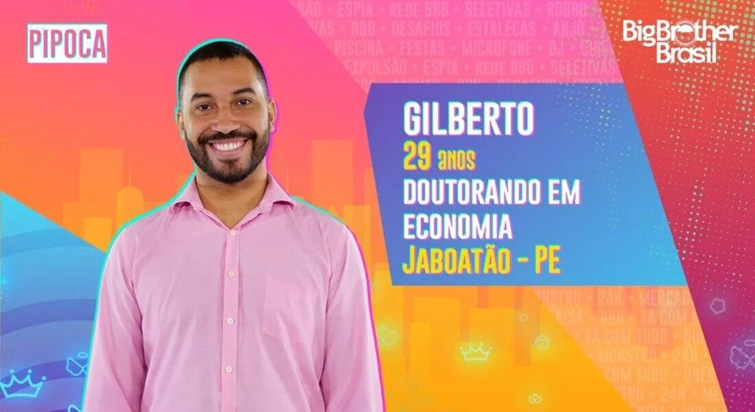 Gilberto é de Jaboatão dos Guararapes e estará no BBB21