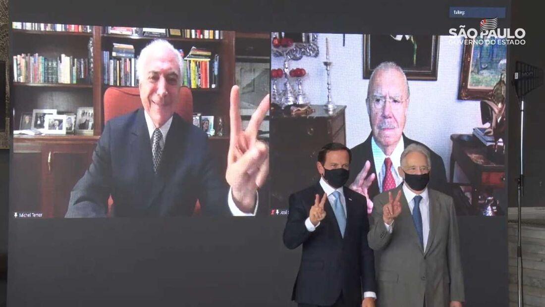 Ato pró-vacina reuniu ex-presidentes