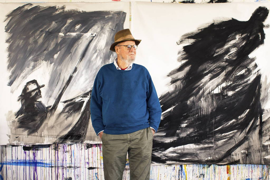 O poeta e editor Lawrence Ferlinghetti, morto nesta segunda-feira