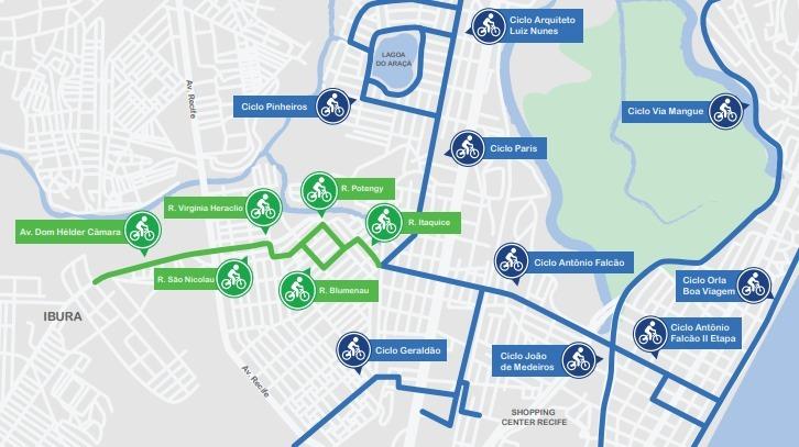 Ciclofaixa Dom Hélder Câmara terá 4 km de extensão