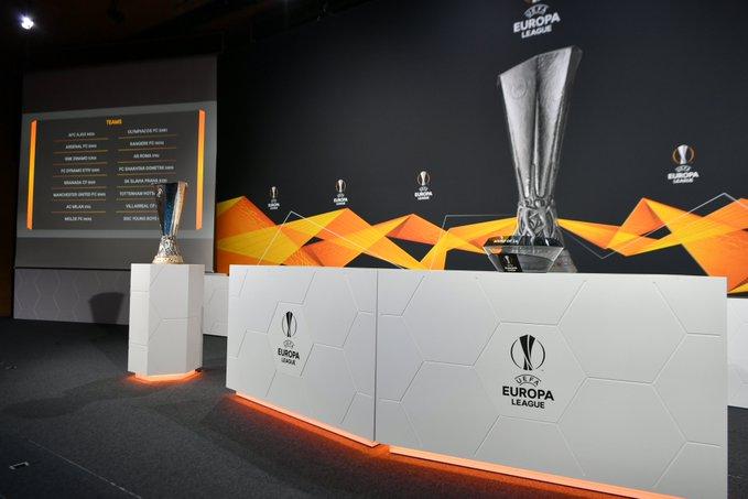 Sorteio das oitavas de final da Europa League aconteceu nesta sexta-feira (26)
