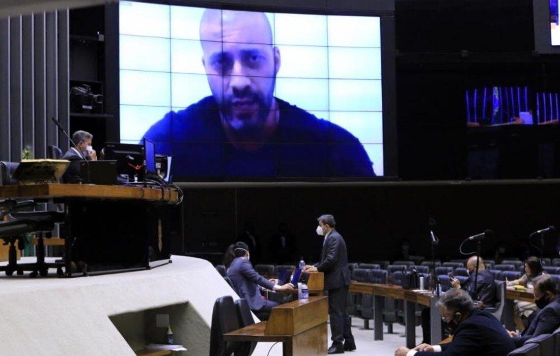 Deputado Daniel Silveira se defendeu das acusações por videoconferência na última sexta