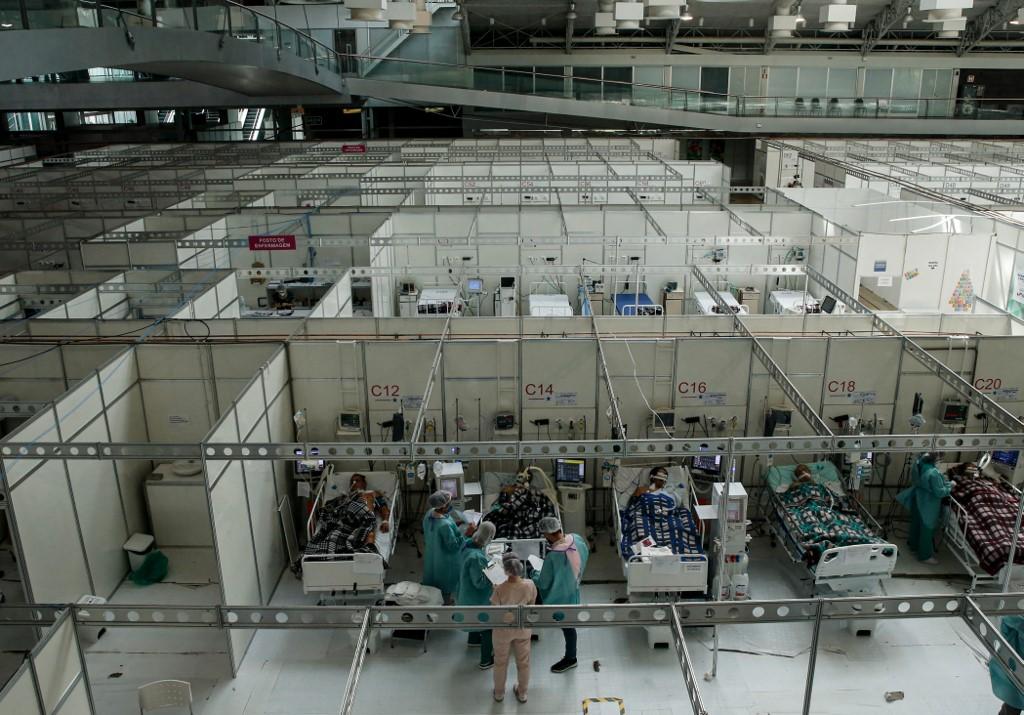 Hospital de campanha para Covid-19 em Belém, no Pará