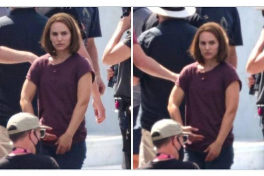 Natalie Portman aparece musculosa em filmagens