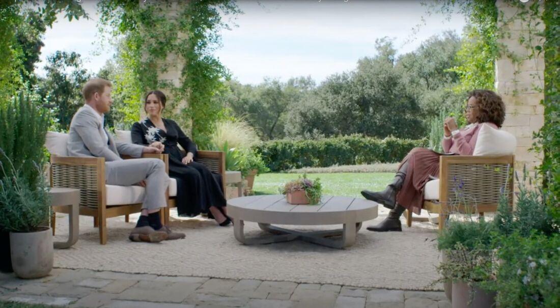 Harry e Meghan em entrevista à Oprah