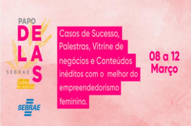 Cartaz do Festival Delas, realizado pelo Sebrae