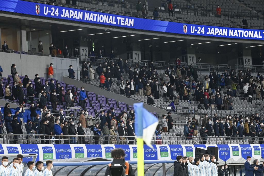 Público já começa a frequentar eventos-teste, como a partida da seleção olímpica do Japão contra a Argentina, na última sexta-feira (26)