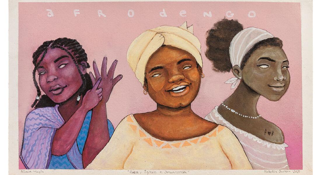 A ilustradora Nathalia Ferreira participou da publicação