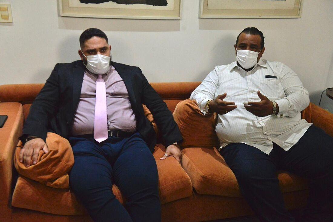 Advogados de defesa Flávio Santana e Graziano Silva