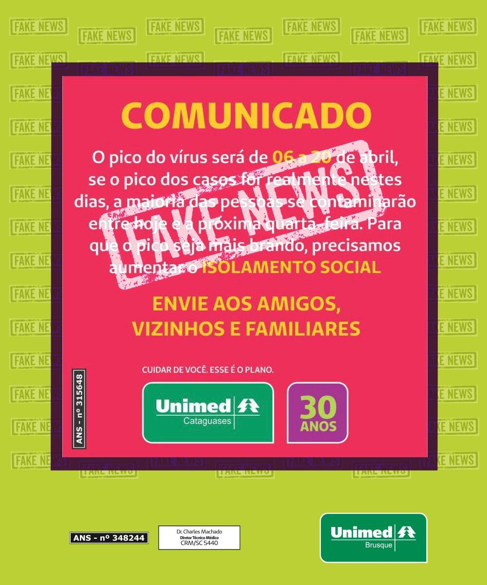 Comunicado que circula nas Redes Sociais é Fake News