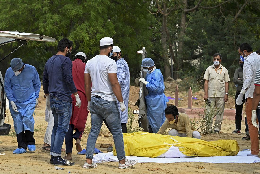 Morte por Covid-19 na Índia