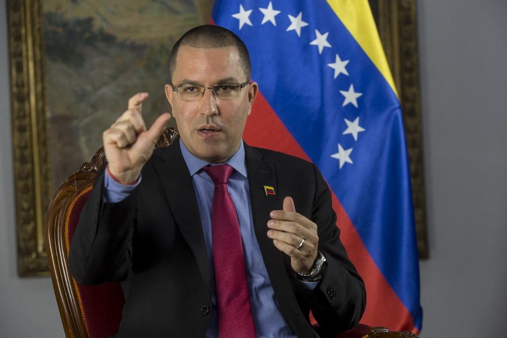 O ministro das Relações Exteriores venezuelano, Jorge Arreaza