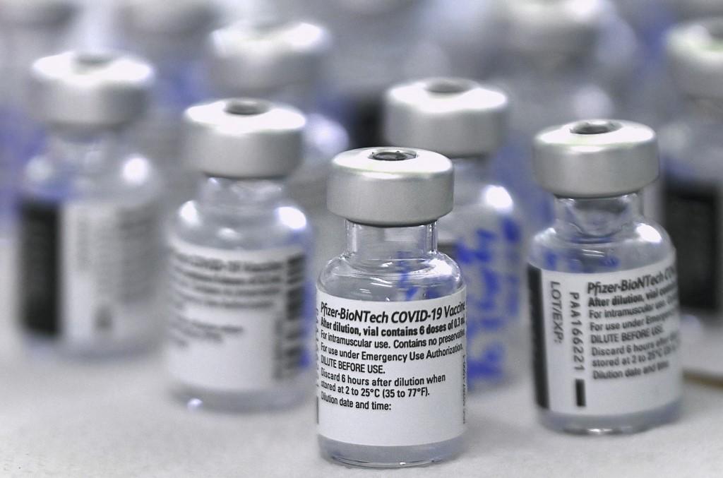 Frascos da vacina Pfizer-BioNTech