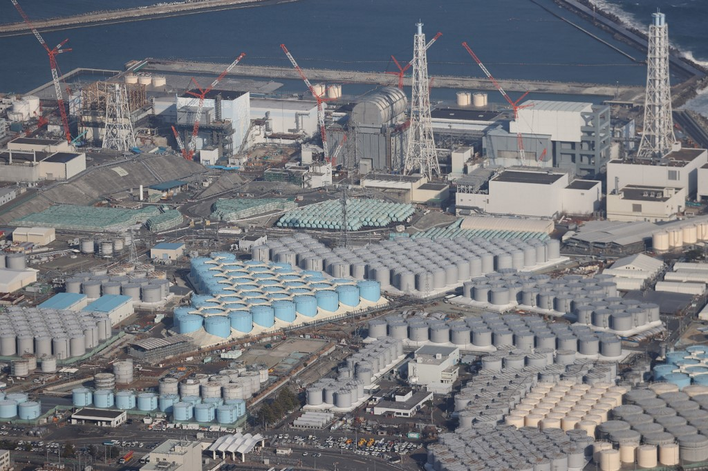 Vista aérea da Usina Nuclear Fukushima