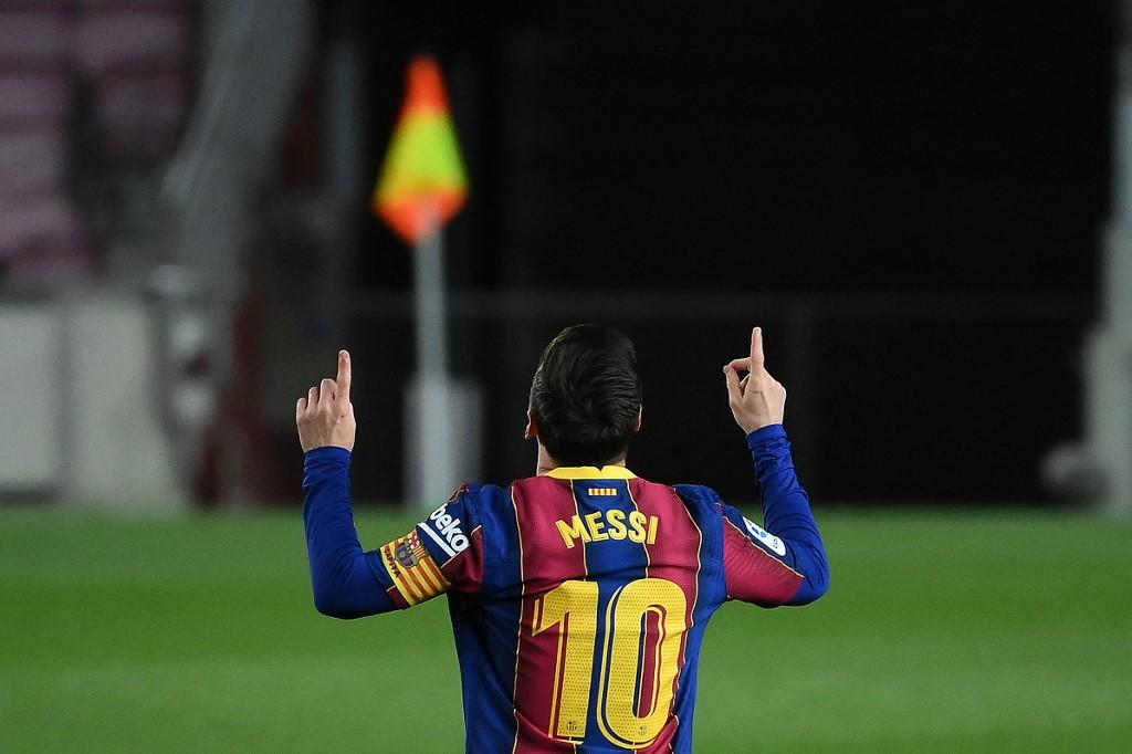 Messi anotou dois gols contra o Getafe