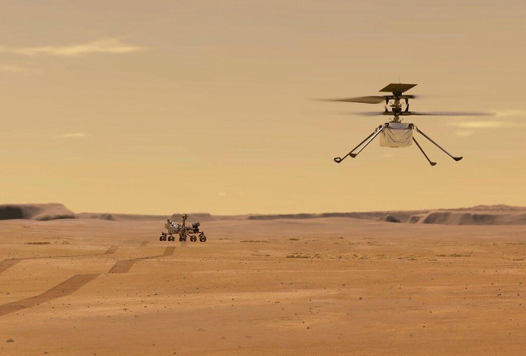 Simulação do voo do helicóptero Ingenuity
