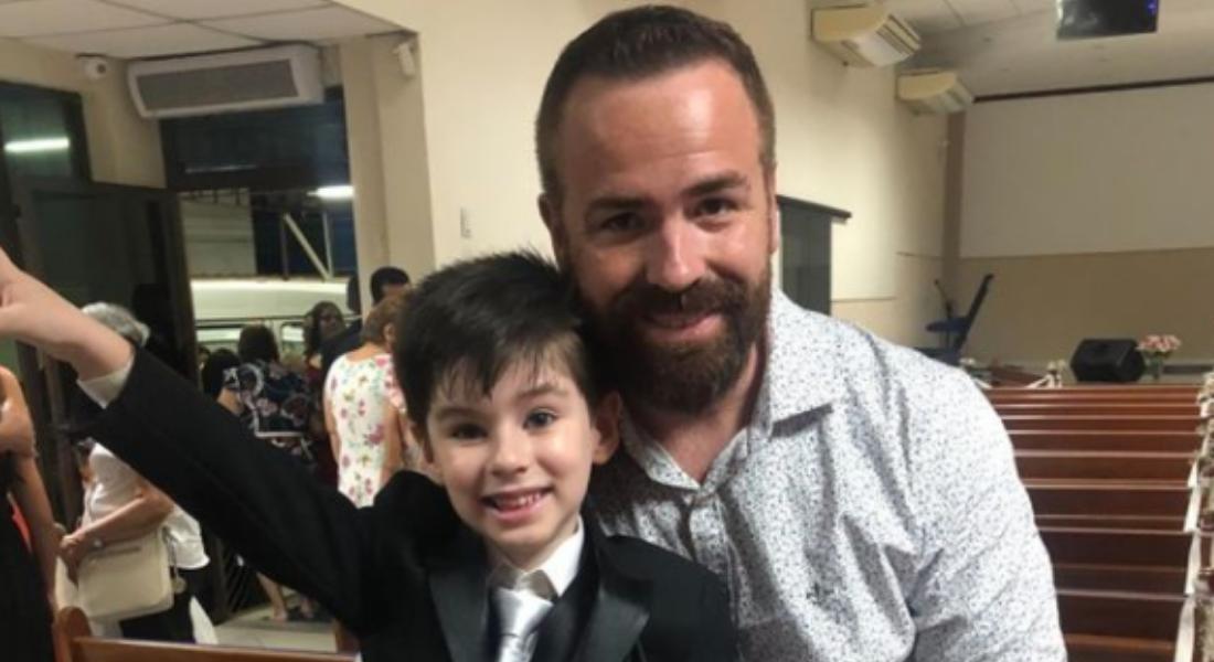 Henry ao lado do pai, Leniel Borel