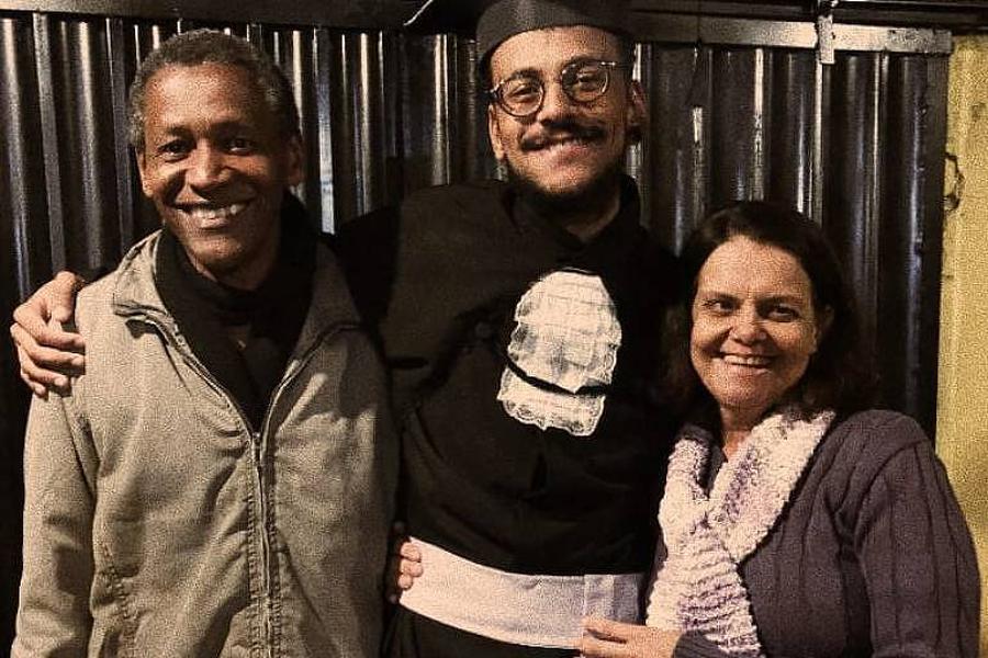 João Luiz Pedrosa com os pais