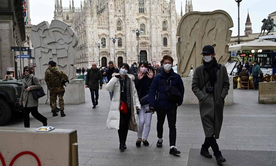 Centro de Milão, na Itália