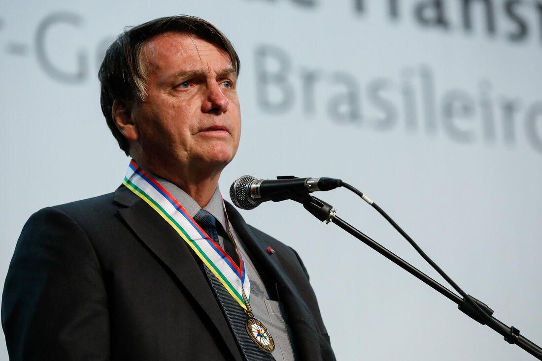 Bolsonaro na cerimônia de posse do novo Diretor-Geral Brasileiro da Itaipu Binacional