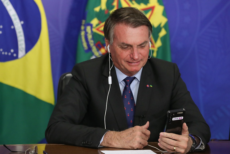 Bolsonaro em videochamada