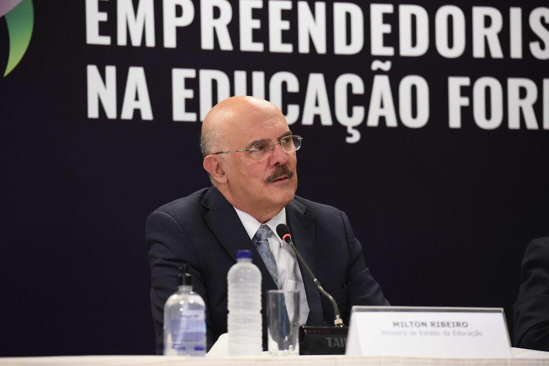 O ministro da Educação, pastor Milton Ribeiro