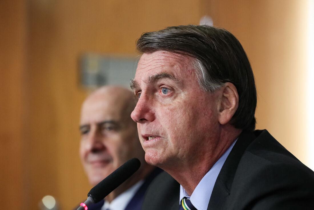 Jair Bolsonaro em videoconferência com Presidente da Federação das Indústrias do Estado de São Paulo