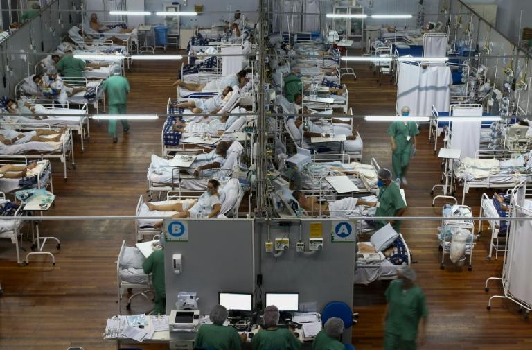 Ala de Covid em hospital de Santo André/SP