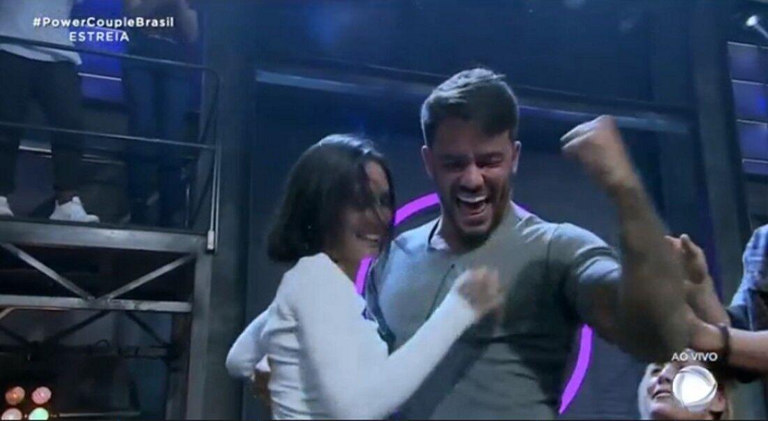Anna Clara Maia e André Coelho, na última edição do Power Couple em 2019