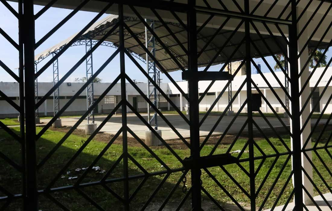 Pátio interno do novo Centro de Saúde Penitenciário