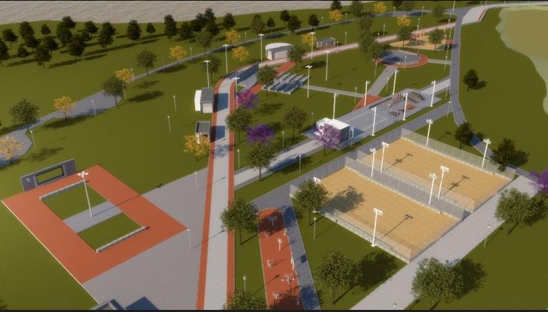 Ilustração do projeto dos parques