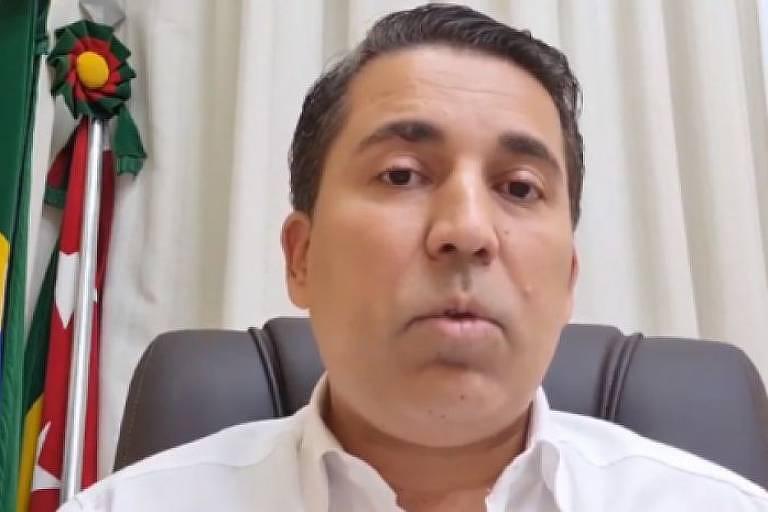 O prefeito de Dracena, André Lemos