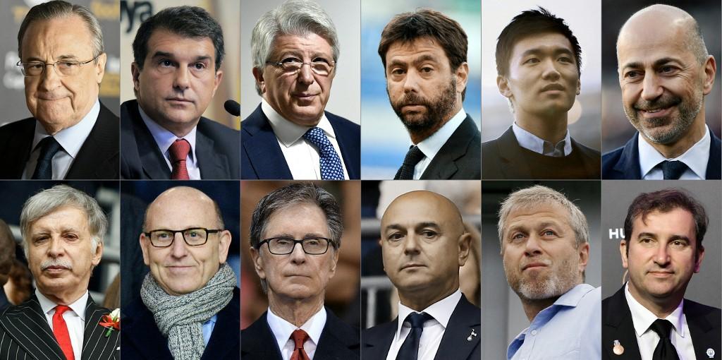 Os 12 donos e/ou presidentes dos clubes fundadores da Super League
